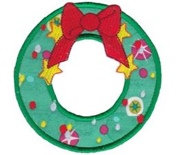 Round Christmas Applique 16