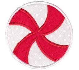 Round Christmas Applique 7