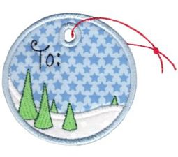Round Christmas Applique 8