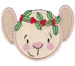Round Christmas Applique 9