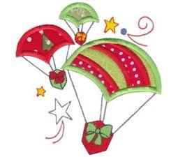Santas Sleigh Applique 5x7 12