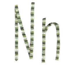 Slender Alphabet n