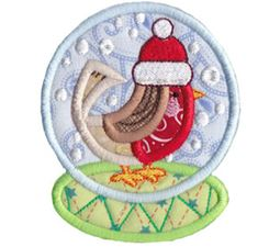 Snowglobes Applique 8
