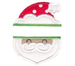 Split Christmas Applique 1