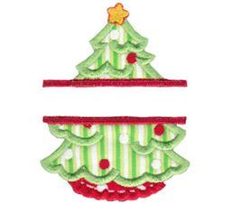Split Christmas Applique 6