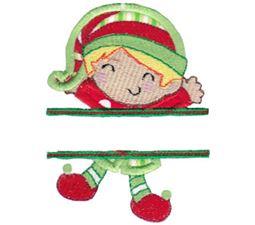 Split Christmas Applique 8