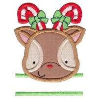 Split Christmas Applique Too
