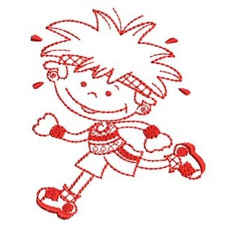Sporty Boys Redwork 3