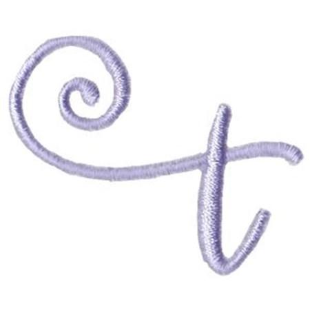 Starstruck Alphabet Left Tail t