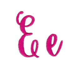 Steelheart Embroidery Font E