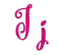 Steelheart Embroidery Font J
