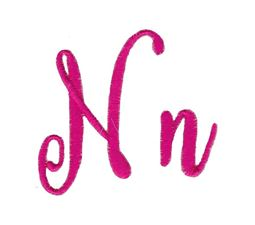 Steelheart Embroidery Font N