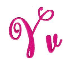 Steelheart Embroidery Font V