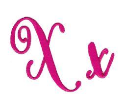 Steelheart Embroidery Font X