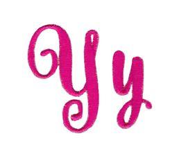 Steelheart Embroidery Font Y