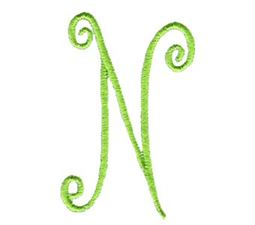 Swirly Alphabet Capital N