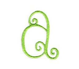Swirly Alphabet Lower Case a