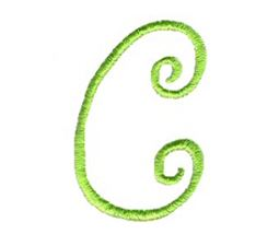 Swirly Alphabet Lower Case c