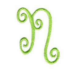 Swirly Alphabet Lower Case n