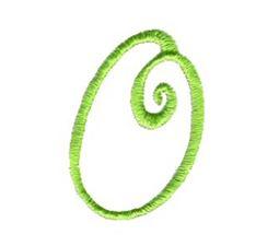 Swirly Alphabet Lower Case o