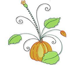 Swirly Autumn 5x7 4