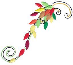 Swirly Autumn Leaves 14
