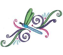 Swirly Dragonflies 3