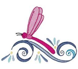 Swirly Dragonflies 4
