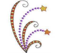 Swirly Halloween Doodads 5x7 14