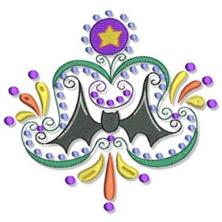 Swirly Halloween Doodads 5x7 3
