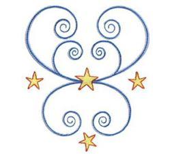 Swirly Stars 10