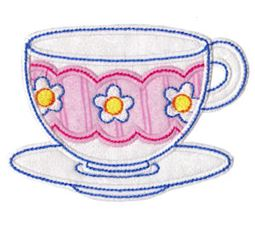 Time For Tea Applique 1