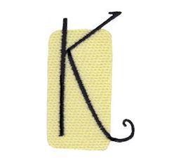 Tiny Blocks Alphabet Capital K