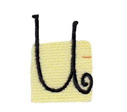 Tiny Blocks Alphabet Lower Case u