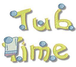 Tub Time Applique 11