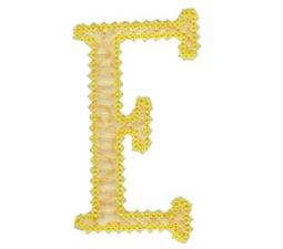 Vintage Delicious Applique Alphabet e