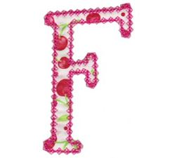 Vintage Delicious Applique Alphabet f