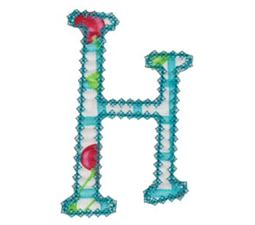 Vintage Delicious Applique Alphabet h