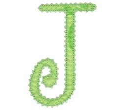 Vintage Delicious Applique Alphabet j