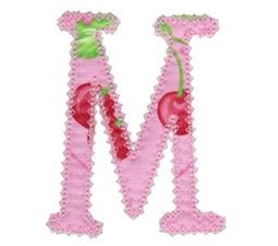 Vintage Delicious Applique Alphabet m