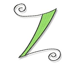 Whimsy Alphabet Capital Z