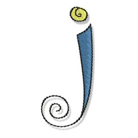 Whimsy Alphabet Lower Case J