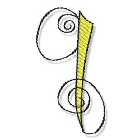 Whimsy Alphabet Lower Case Q