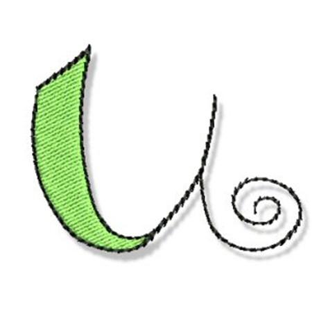 Whimsy Alphabet Lower Case U