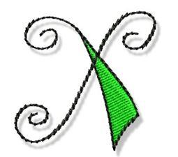Whimsy Alphabet Lower Case X