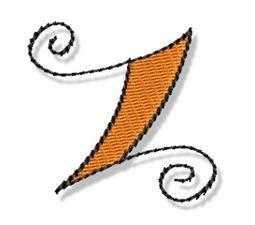 Whimsy Alphabet Lower Case Z