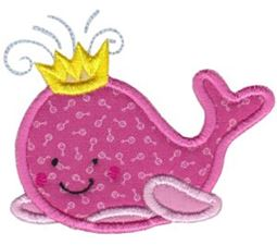 Whale 2 Applique