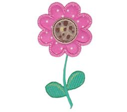 Pink Flower Applique