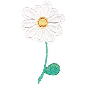 White Flower Applique