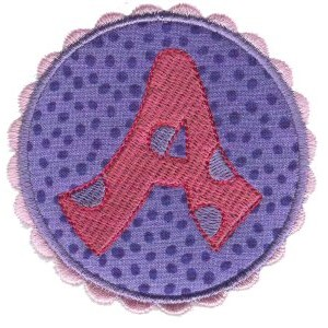 Button Applique Alphabet A